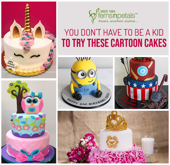 Not Only Kids Even Adults Will Love These 7 Cartoon Cakes