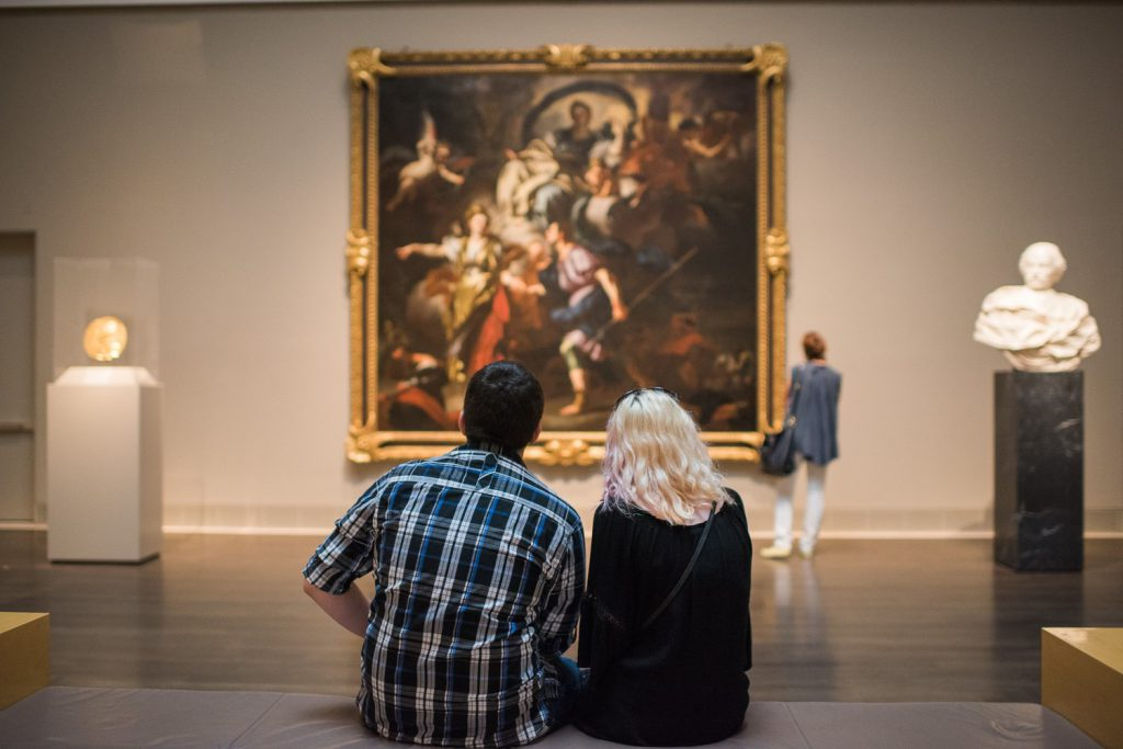 couple at Art Exhibition