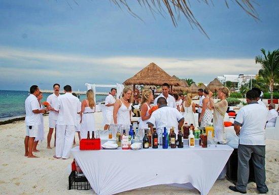 beach corporate party idea