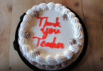 Teachers day thank you cake