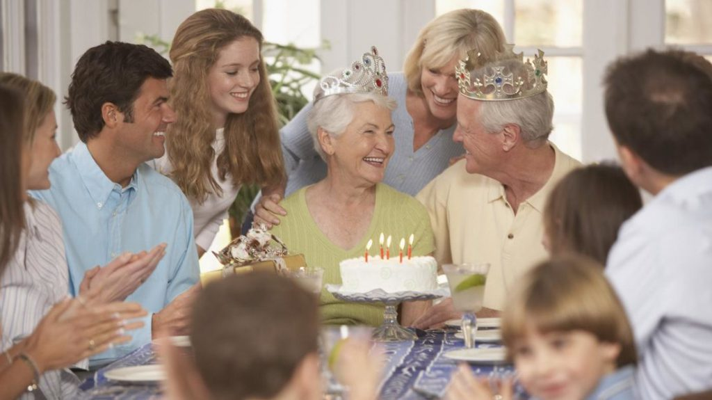 grand parents day with cake