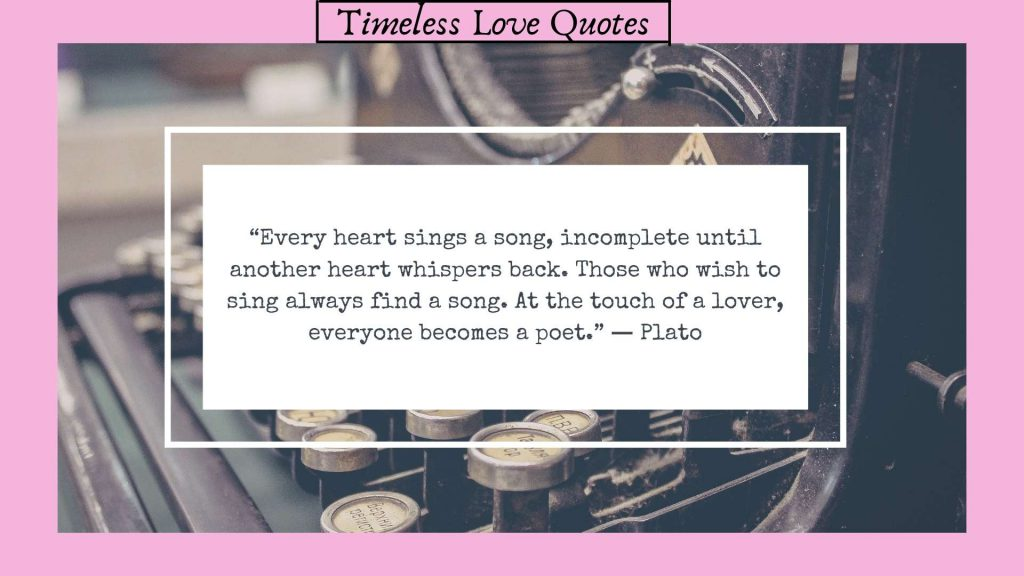 Timeless love quotes