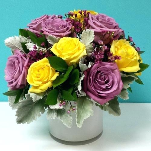 Yellow Roses & Violets