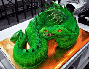 Green Dragon Cake by Evil Plankton